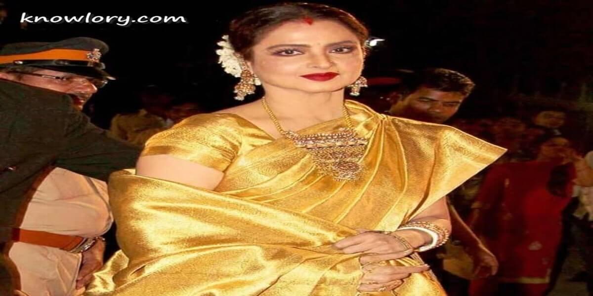 Pachampally saree wearing rekha image